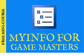 MyInfo course for game masters